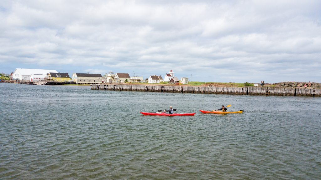 Outside Expeditions kayakers
